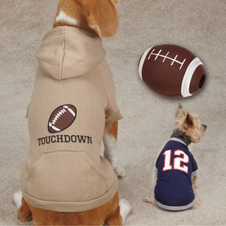 Touchdown Hound Navy Apparel and Toy Package