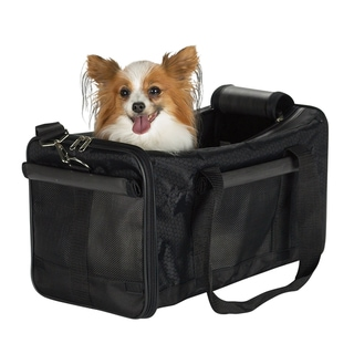 Casual Canine Black Pet Duffle Bag