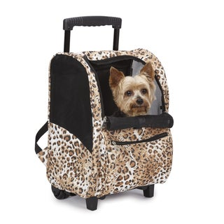 Casual Canine Cheetah Animal Print Backpack on Wheels