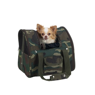 Casual Canine Green Camo Backpack Carrier