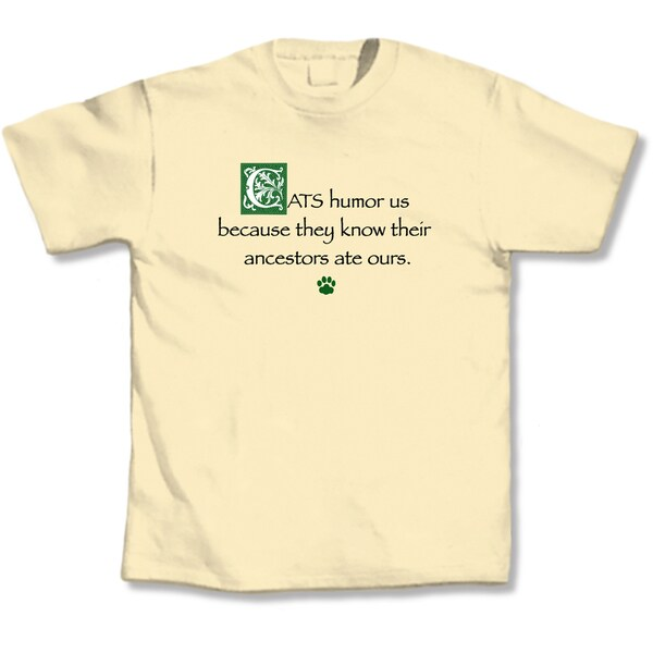 'Cats Humor Us' Yellow T-shirt