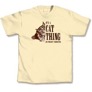 Yellow 'It's a Cat Thing' T-Shirt