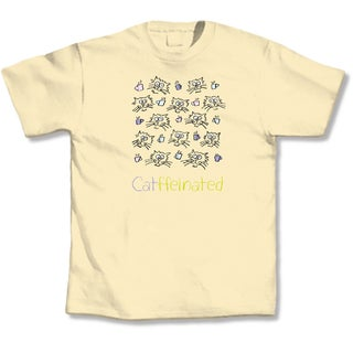 Yellow 'Catffeinated' T-shirt