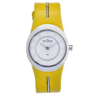 Skagen Women's Yellow Stainless Steel Crystal Watch