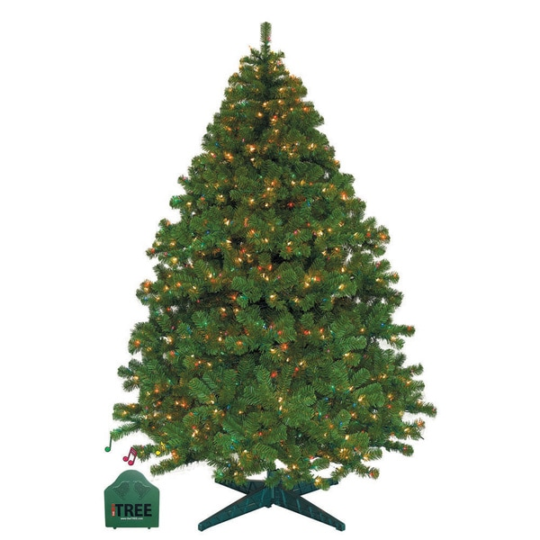 Pre-lit Clear/Multi LED MUSICAL Christmas iTree
