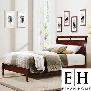 ETHAN HOME Filton Cherry Contemporary Twin-Size Bed