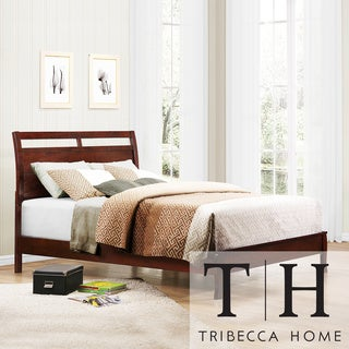 TRIBECCA HOME Filton Cherry Contemporary Twin-Size Bed