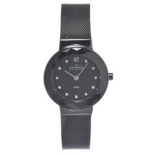 Skagen Women's Stainless Steel Black Mesh Strap Watch