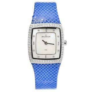 Skagen Women's 384XSSLN Blue Stainless-Steel Crystal Watch