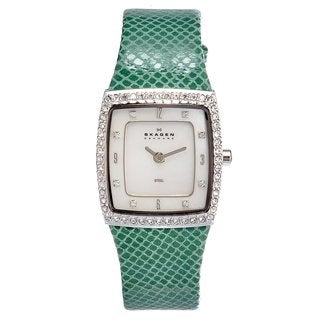 Skagen Women's Green Stainless Steel Crystal Watch