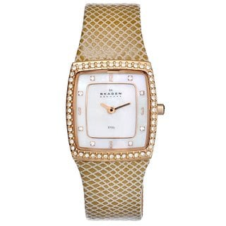 Skagen Women's 384XSRLT Goldtone Steel Crystal Watch