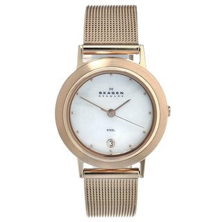 Skagen Women's Rose Goldtone Stainless Steel Watch