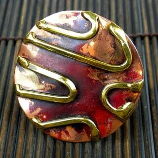 Handmade Copper, Brass Destiny Ring (South Africa)