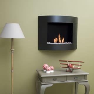 Bio-Blaze Diamond I Bio Ethanol Black Wall-mounted Fireplace
