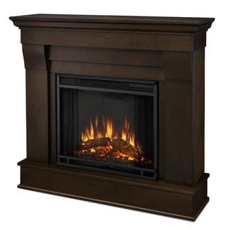 Real Flame Dark Walnut Chateau Electric Fireplace