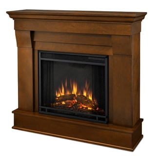 Real Flame Espresso Chateau Electric Fireplace