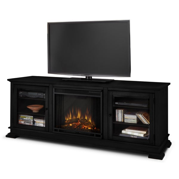 Real Flame Black Hudson 67.75-inch Electric Fireplace