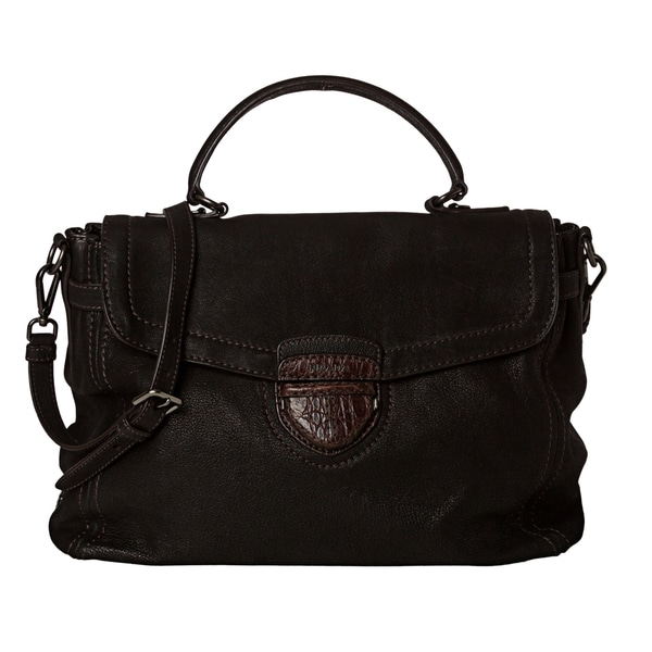 Prada 'Capra Antic E' Black Soft-shell Leather Briefcase