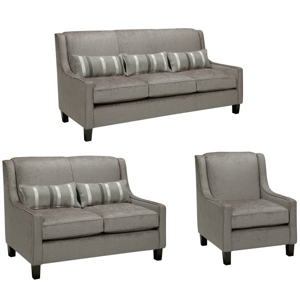 Ramone Silver Sofa Loveseat And Chair Overstock Shopping Great Deals On Sofas Loveseats