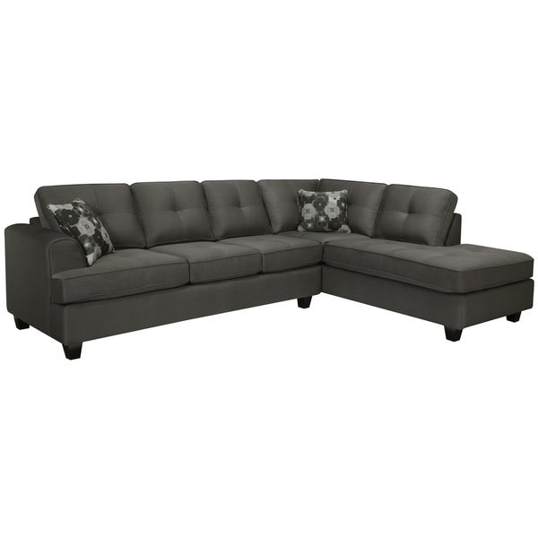 Chase Charcoal Grey Sectional Sofa 14955530 Overstock