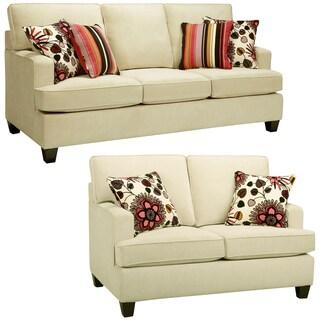 Austin Cream Sofa and Loveseat