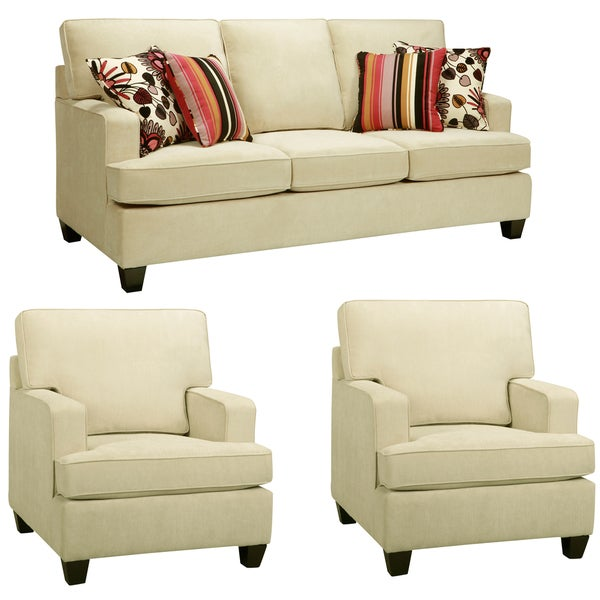 Austin Cream Sofa and Two Chairs