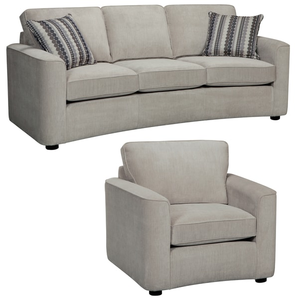 Marley Light Gray Sofa And Chair 14955593 Overstock