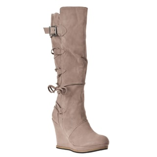 Riverberry Women's 'Chandler' Taupe Wedged Boots