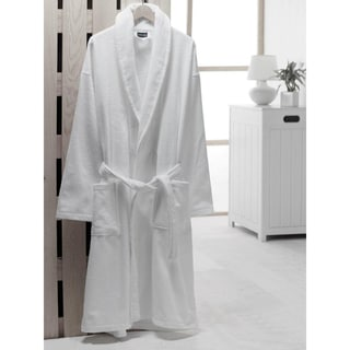 Salbakos Velour Shawl Collar Turkish Cotton Robe