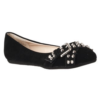 Riverberry Women's 'Jayden' Black Studded Flats
