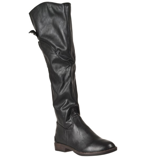 Riverberry Women's 'Montage' Black Knee-high Boots