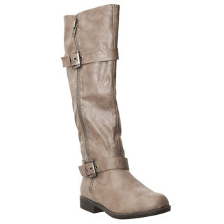 Riverberry Women's 'Montage' Taupe Zipper-detail Boots