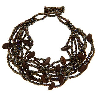 Brown Multi Beaded Bracelet (Guatemala)