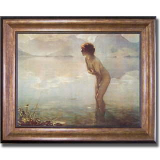 Paul Chabas 'September Morn' Framed Canvas Art