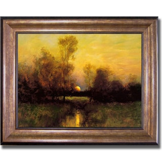 Dennis Sheehan 'Summer Moonrise' Framed Canvas