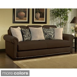 Furniture of America Shiloh Micro Denier Sofa