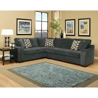 Furniture of America Shahzel Micro Denier Sectional Set