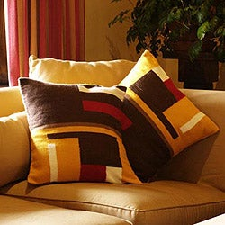 Set of 2 Handcrafted Alpaca 'Wari Colors' Cushion Covers (Peru)