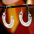 Sterling Silver 'The Plumed Serpent' Earrings (Mexico)