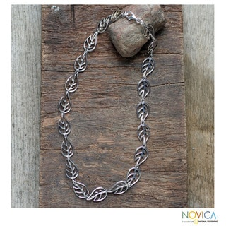 Handcrafted Sterling Silver 'Vitality' Necklace (Thailand)