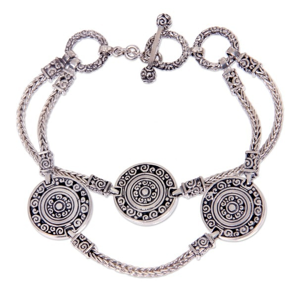 Sterling Silver 'Coins of The Kingdom' Bracelet (Indonesia)