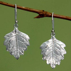 Sterling Silver 'Glistening Leaves' Earrings (Indonesia)