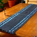 Handcrafted Cotton 'Lagoon Wonders' Table Runner (Guatemala)