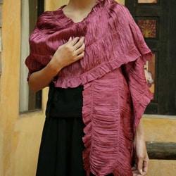 Rayon and Silk 'Aubergine Extravaganza' Scarf (Thailand)