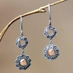 Gold Overlay 'Sunflowers' Earrings (Indonesia)