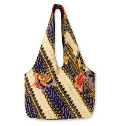 Beaded Cotton 'Jogjakarta Legacy' Batik Shoulder Bag (Indonesia)