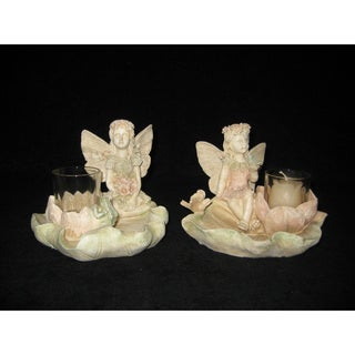 Fairy Lotus Leaf Candle Holders (Set of 2)
