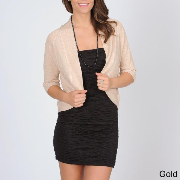 Isabella Rodriguez Women's Glitter Knit Shrug