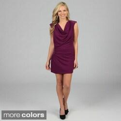 Stanzino Women's Cowl Neck Studded Dress