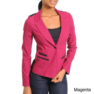 Stanzino Women's One-button Two-tone Blazer